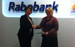 sponsor, Rabobank Bollenstreek, vrouw en zaak bollenstreek